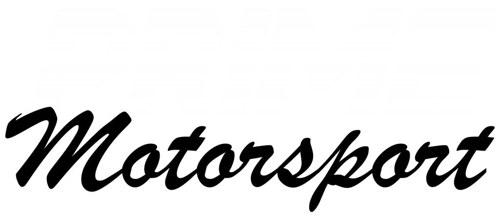 Prime Motorsport logo in white and black
