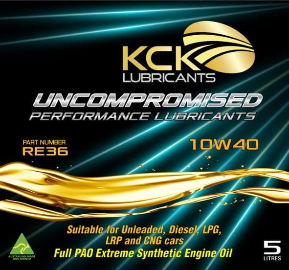 KCK Lubricants RE36 Extreme 10w40 Synrhestic Oil